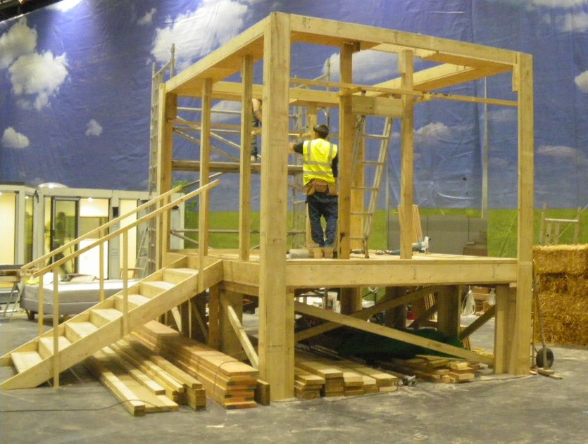 Frame building at Grand Designs